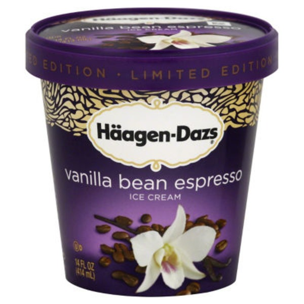 Haagen-Dazs Ice Cream, Vanilla Bean Espresso, Limited Edition