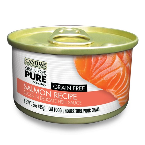 Canidae Grain Free Pure Recipes Salmon Canned Cat Food 3 Oz.