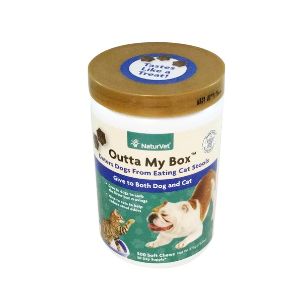 NaturVet Outta My Box Cat Litter Box Deterrent for Dogs