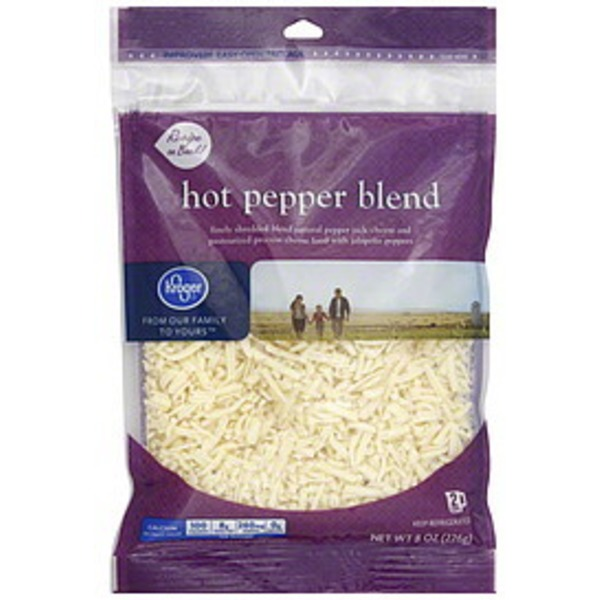 Kroger Hot Pepper Blend Shredded Cheese
