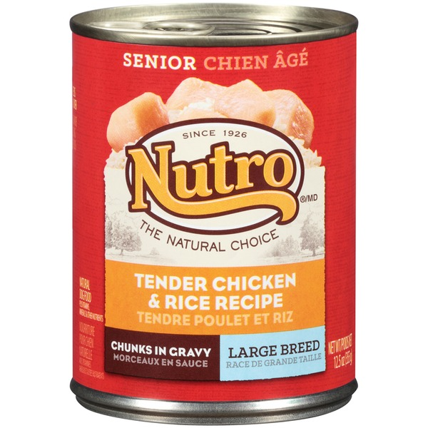 Nutro Senior Large Breed Chunks in Gravy Tender Chicken & Rice Recipe Dog Food