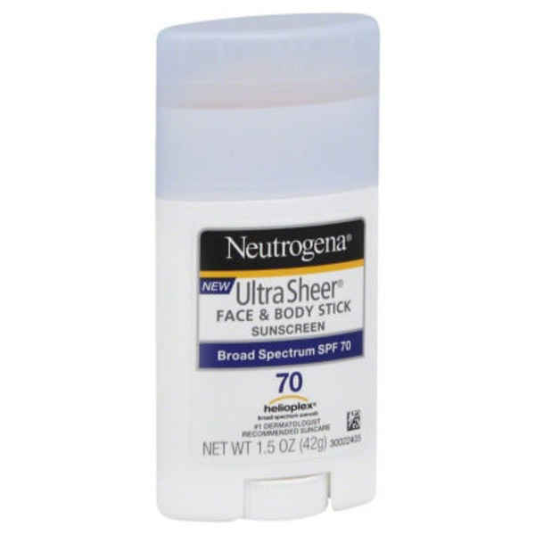 Neutrogena® Ultra Sheer Stick SPF 70 Posted 2/25/2014 Sunscreen