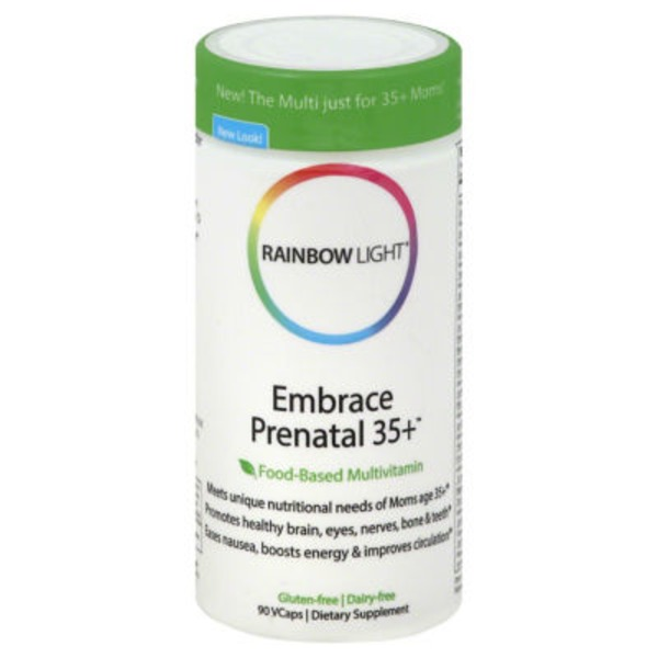 Rainbow Light Embrace Prenatal 35+ Food-Based Multivitamin