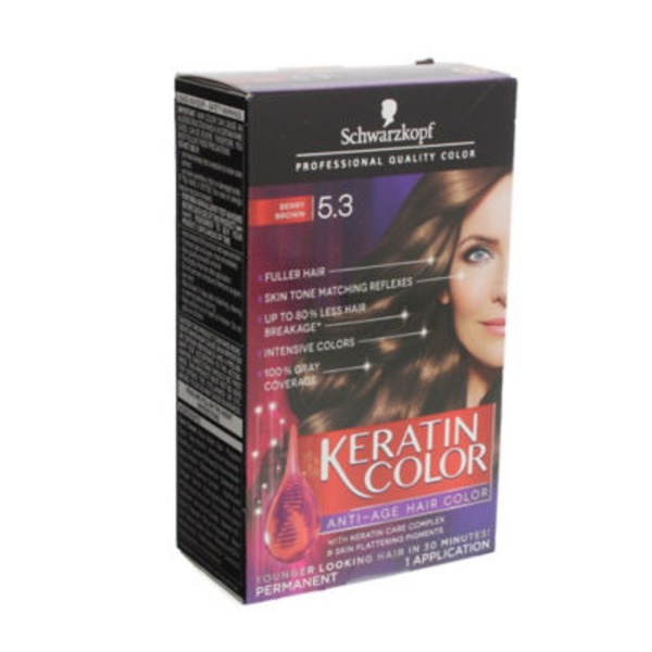 Keratin Color Anti-Age 5.3 Berry Brown Hair Color