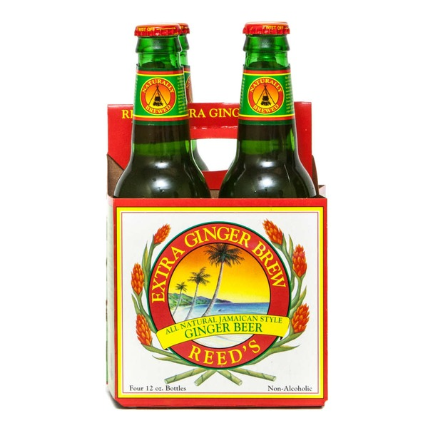 Reed's Inc. Extra Ginger Brew All Natural Jamaican Style Ginger Beer - 4 CT