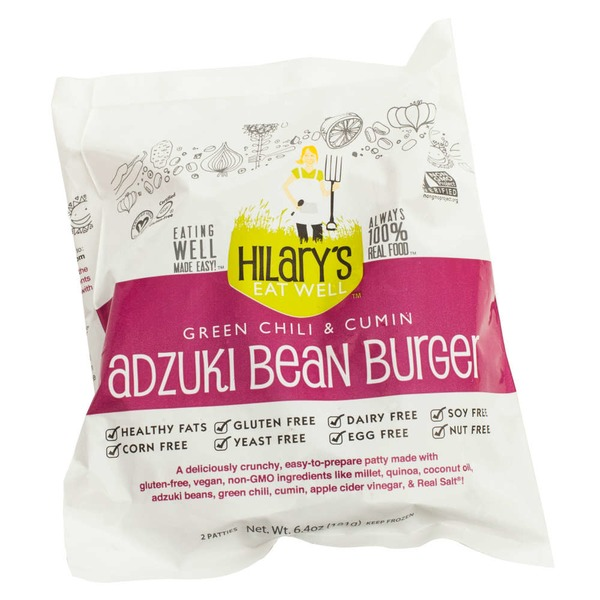 Hilary's Eat Well Green Chili & Cumin Adzuki Bean Burger