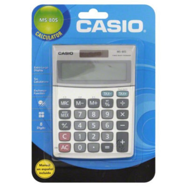Casio Calculator, MS-80S