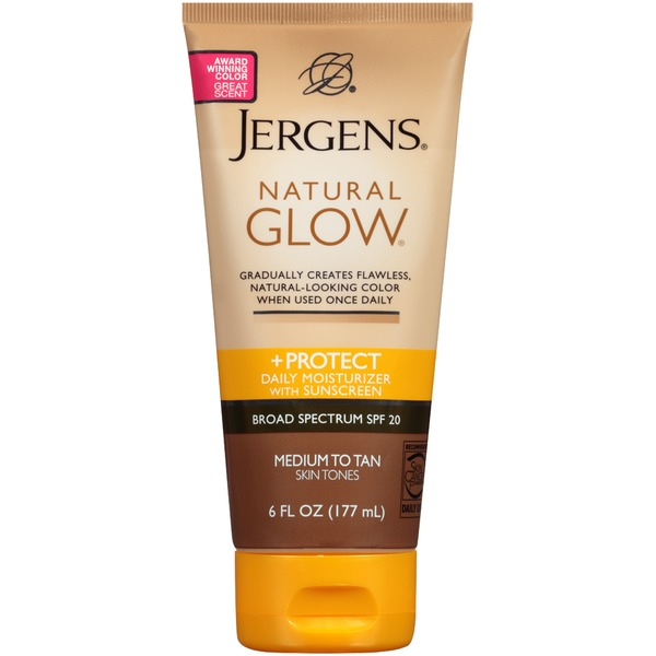 Jergens Natural Glow Natural Glow + Protect Medium to Tan Daily Moisturizer