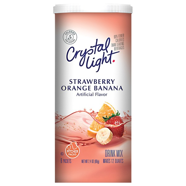 Crystal Light Strawberry Orange Banana 12 Qt Drink Mix