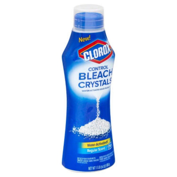 Clorox Control Bleach Crystals Water-Activated Solid Bleach Regular Scent