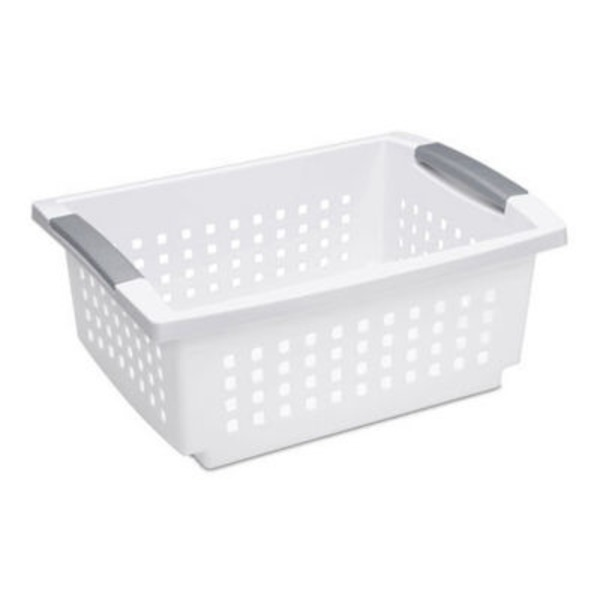 Sterilite Medium Stacking Basket White
