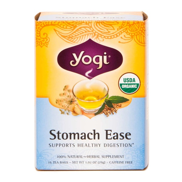 Yogi Organic Stomach Ease Herbal tea, Caffeine Free