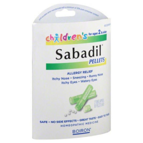 Boiron Sabadil Children's Allergy Relief Non-Drowsy Homeopathic Medicine Quick-Dissolving Pellets - 2 PK