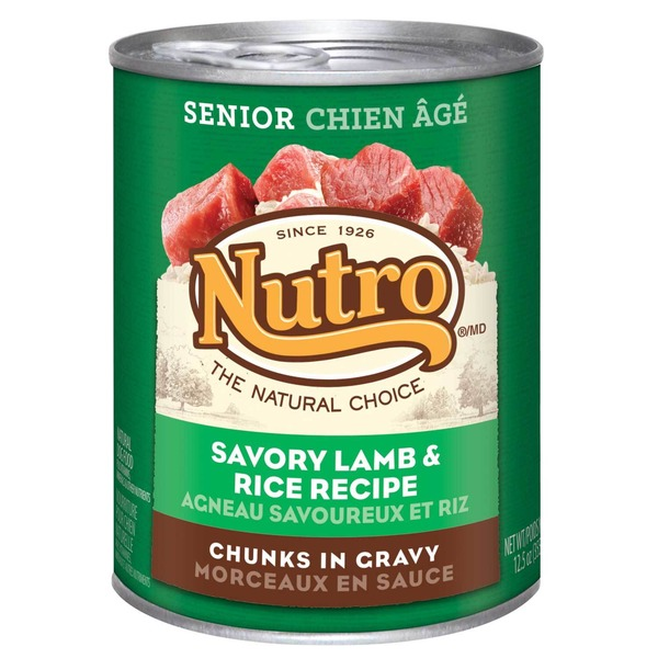 Nutro Senior Chunks in Gravy Savory Lamb & Rice Recipe Dog Food