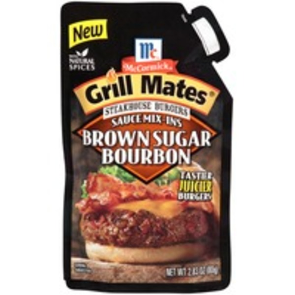 Mccormick Grill Mates Steakhouse Burgers Sauce Mix-Ins Brown Sugar Bourbon Seasoning Mix