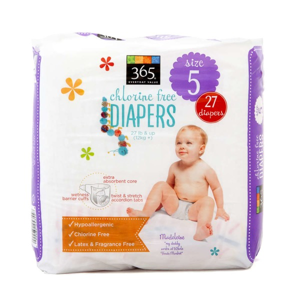 365 Chlorine Free Diapers Size 5