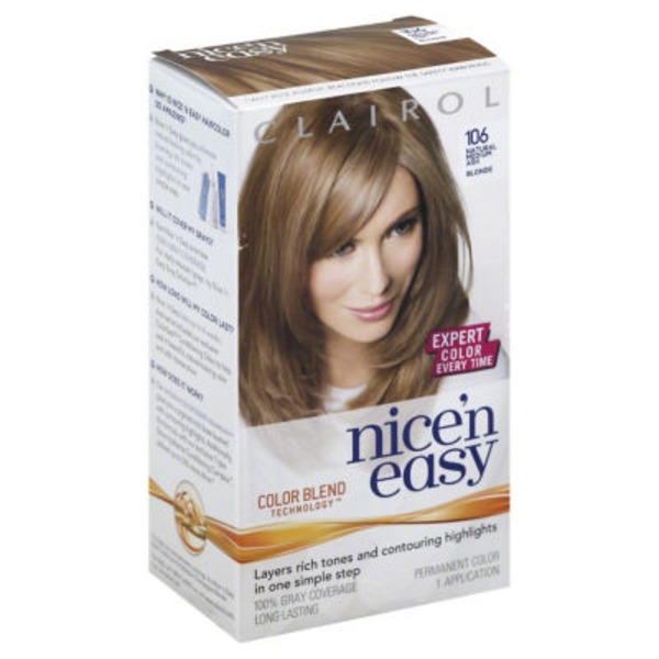 Clairol Nice 'N Easy Permanent Hair Color 8A Natural Medium Ash Blonde 1 Kit Female Hair Color