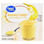 Great Value Instant Pudding & Pie Filling, Banana Cream, 3.4 oz