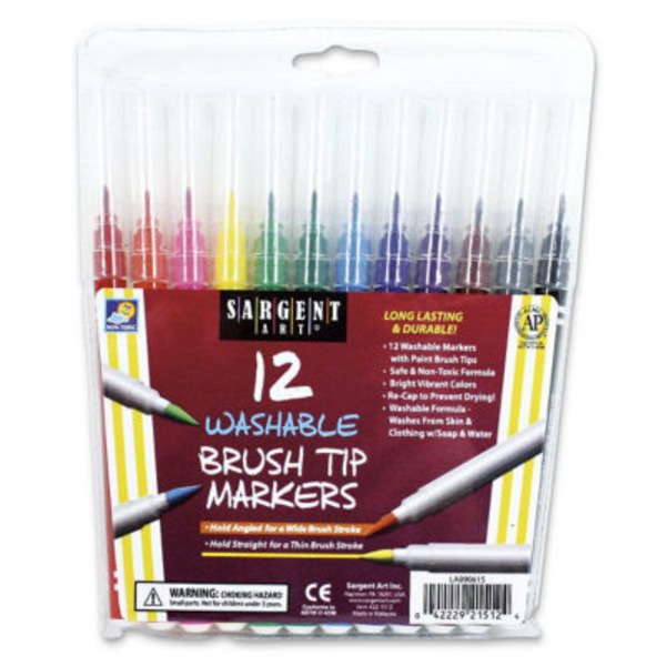 Sargent Art Brush Tip Washable Markers
