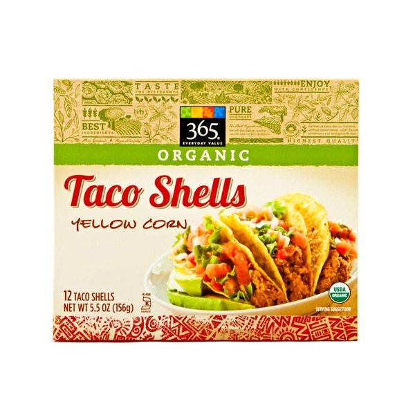 365 Organic Yellow Corn Taco Shells
