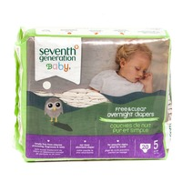 Seventh Generation Baby Overnight Stage 5 27+ lbs Diapers