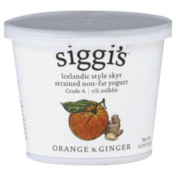 Siggi's Strained Non Fat Orange Ginger Yogurt