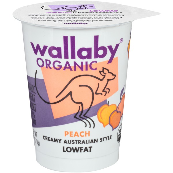 Wallaby Organic Organic Peach Lowfat Yogurt