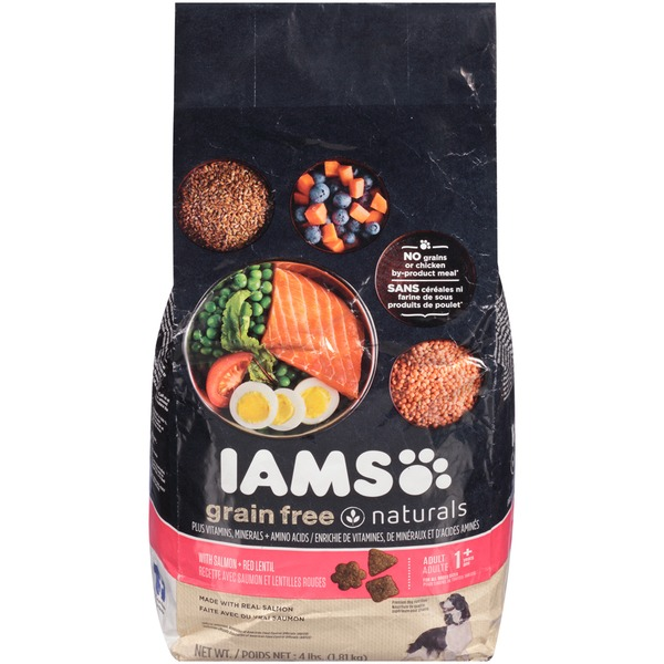 Iams Grain Free Naturals with Salmon + Red Lentil Adult 1+ Years Dog Food