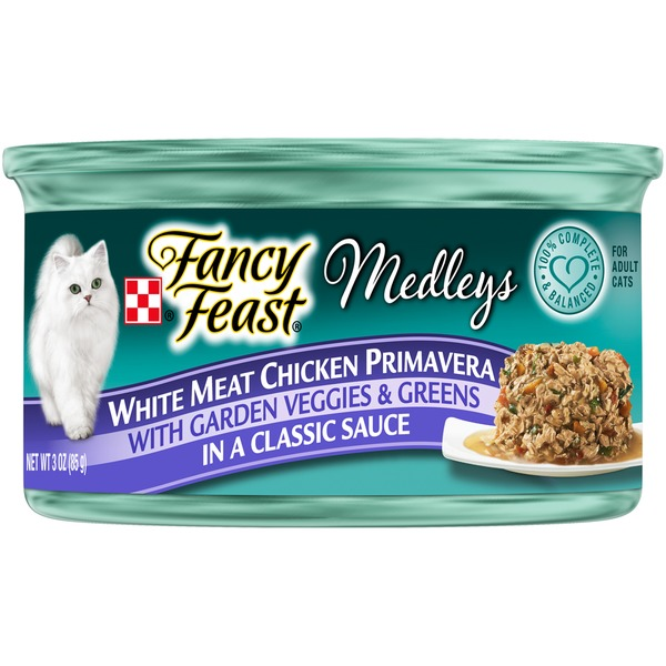 Fancy Feast Medleys White Meat Chicken Primavera Cat Food