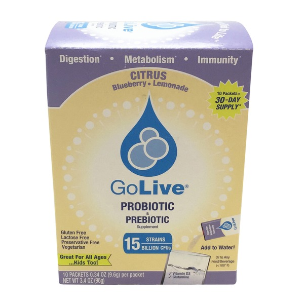 GoLive Probiotic & Prebiotic Citrus Blueberry Lemonade Drink Mix