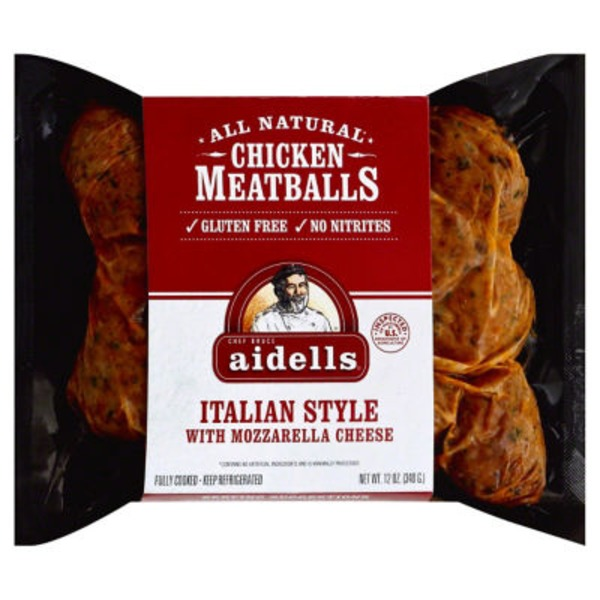 Aidell's Italian Style with Mozzarella Cheese Chicken Meatballs