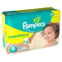 Pampers Swaddlers Diapers, Size 6, 17 Count