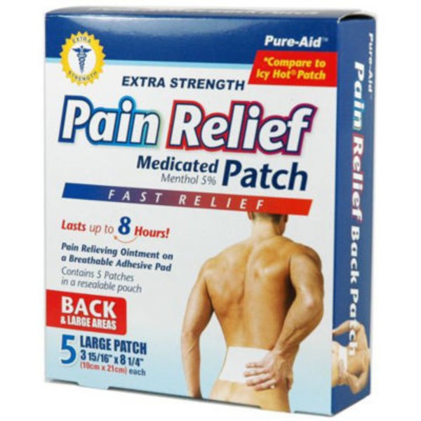 Pure Aid Extra Strength Pain Relief Medicated Large Patch