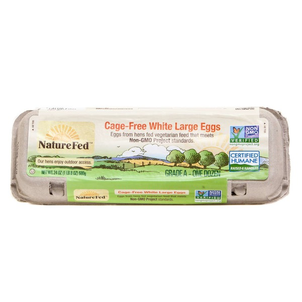 NatureFed Cage free White Large Grade A Eggs