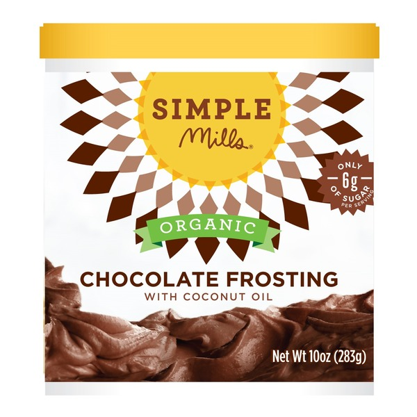 Simple Mills Frosting, Organic, Chocolate, with Coconut Oil