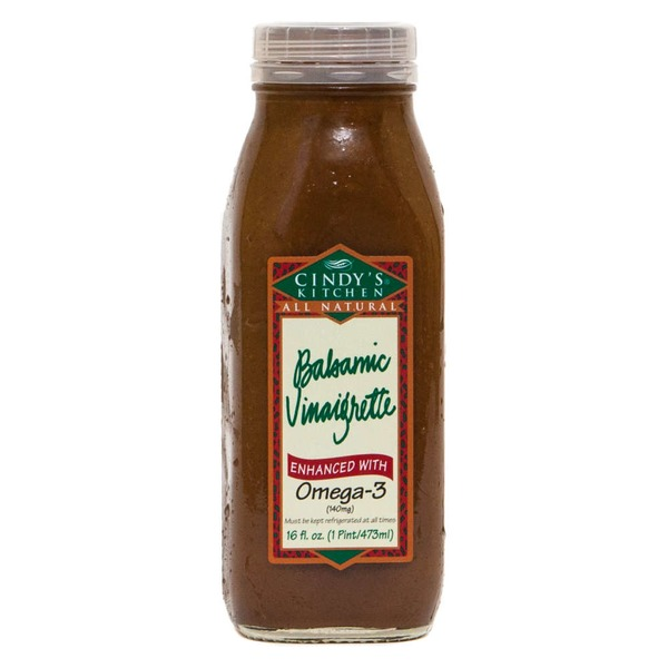 Cindy's Kitchen All Natural Balsamic Vinaigrette Enhanced With Omega 3