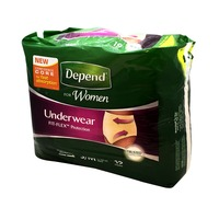 Depend Depend for Women Maximum Absorbency, Soft Peach, S-M Underwear