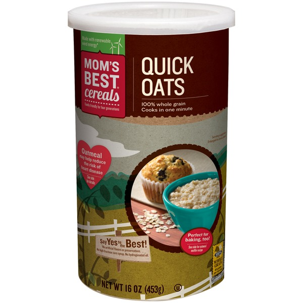 Mom's Best Cereals Quick Oats Hot Cereal