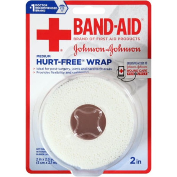 Band Aid® Hurt-Free Wrap, Medium, 2