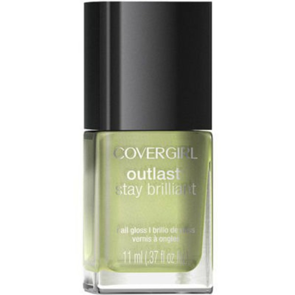 CoverGirl Outlast Stay Brilliant COVERGIRL Outlast Stay Brilliant Nail Gloss, Salt Water Taffy 0.37 fl oz (11 ml) Female Cosmetics