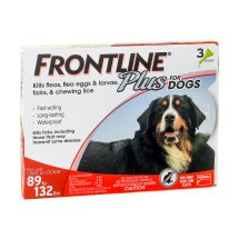 Frontline Plus Flea and Tick Prevention for Extra Large Dogs, 3 Monthly Treatments