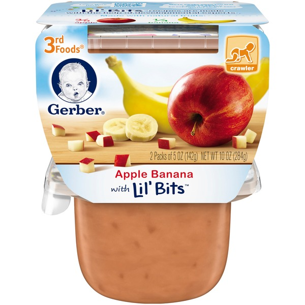 Gerber 3 Rd Foods 3F Apple Banana with Lil' Bits Purees Fruit