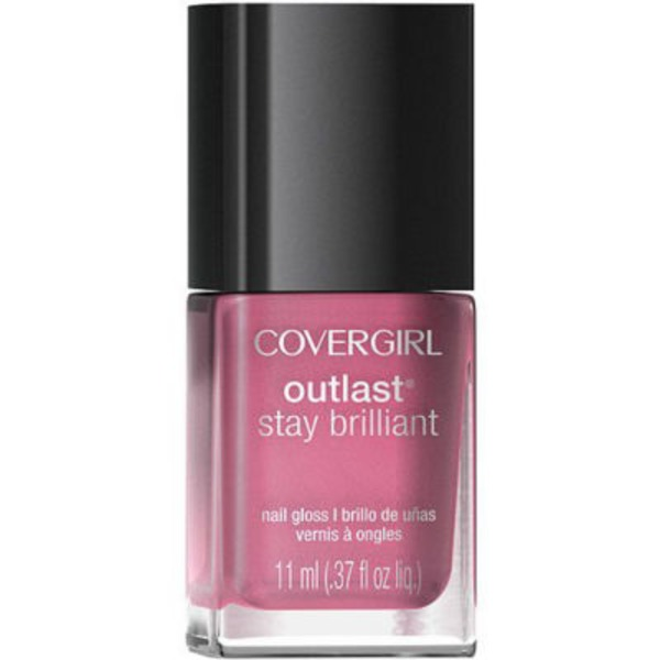 CoverGirl Outlast Stay Brilliant COVERGIRL Outlast Stay Brilliant Nail Gloss Polish, Bon Bon .37 fl oz (11 ml) Female Cosmetics