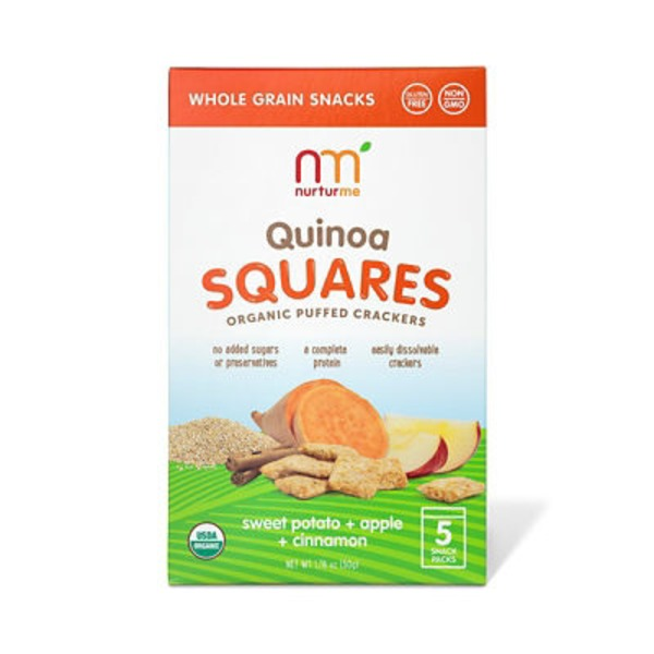 NurturMe Organic Quinoa Squares Sweet Potato & Apple & Cinnamon