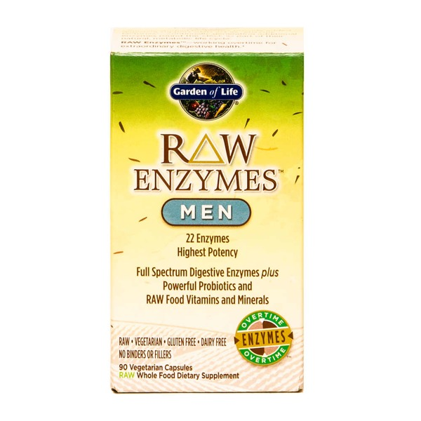 Garden of Life Raw Enzymes For Men Vegetarian Capsules