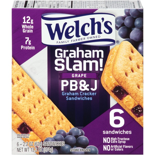 Welch's Graham Slam! Grape PB & J Graham Cracker Sandwiches
