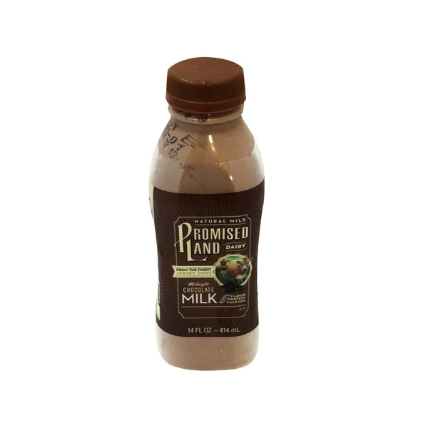 Promised Land Dairy Milk, Midnight Chocolate, All Natural, Bottle
