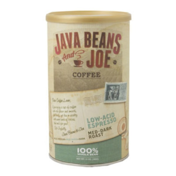 Java Beans And Joe Low Acid Espresso Medium Dark Roast