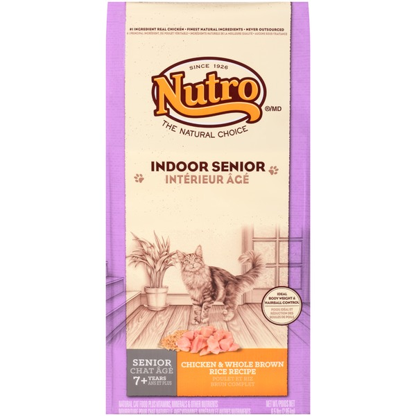 Nutro Indoor Senior Chicken & Whole Brown Rice Recipe Dry Cat Food