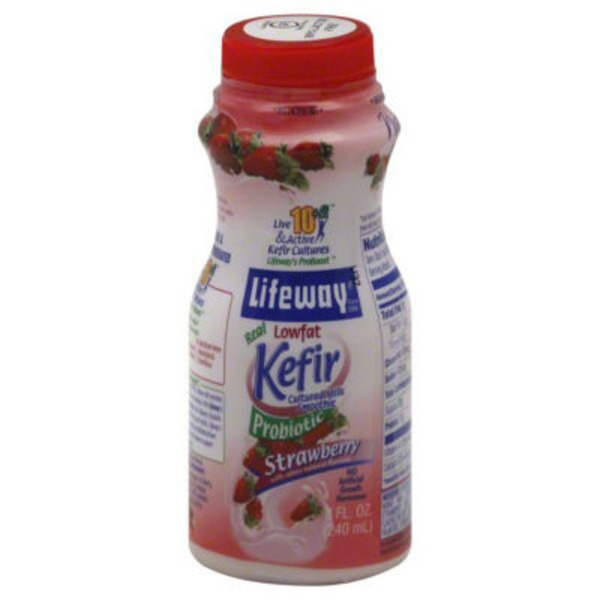 Lifeway Kefir Cultured Lowfat Milk Smoothie Strawberry